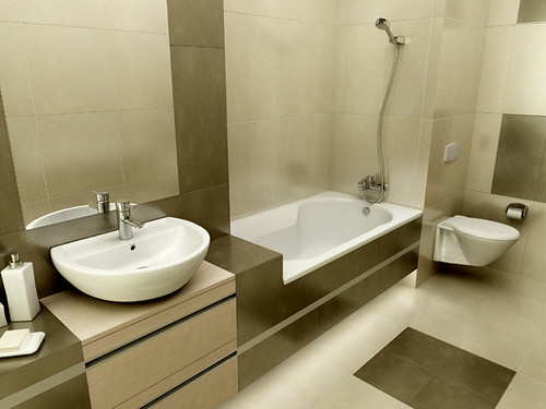 Minimalist elegant Bathroom design for Roca producer, by InsideLab