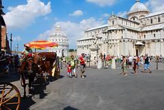 Gigs in Pisa (Alessio Miatto) Tags: italy horse italia cathedral gig pisa tuscany duomo toscana cavallo piazzadeimiracoli calesse squareofmiracles