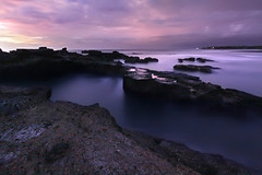 bring to life your fantasies (tropicaLiving - Jessy Eykendorp) Tags: longexposure light sunset sea sky bali seascape color beach silhouette clouds reflections indonesia landscape geotagged coast rocks colours nightshot shoreline canggu efs1022mmf3545usm canoneos50d smokywater nyanyibeach tropicaliving myfirststartusingdslr~ jessyce geo:lon=115157318 geo:lat=8817225 tropicalivingtropicalliving