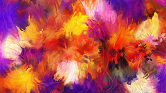 Composition #58 (PatrickGunderson) Tags: desktop blue red wallpaper orange white chihuly art lines yellow composition computer painting botanical design colorful strokes circles background curves loops adobe programming generative exploration luminous generated algorithm colorfield fingerpainting actionscript spirograph nonfigurative 1080p periodic as3 epicycles
