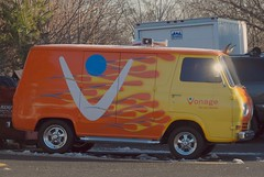 Vonage Custom Van (Keyport-Kid) Tags: ford flames nj van vonage holmdel sidepipes