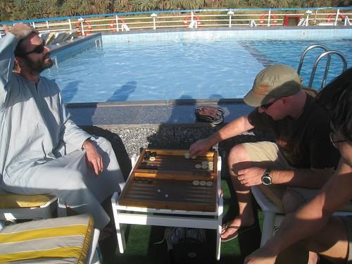 Learning Egyptian rules backgammon