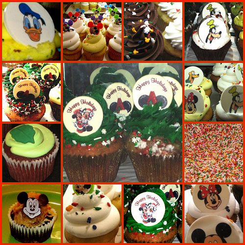 Disneyland Holiday Cupcakes