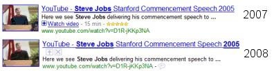 YouTube in den Suchergebnissen