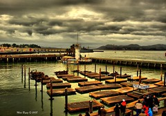 Pier 39 - San Francisco (Mine Beyaz) Tags: sanfrancisco california bridge sea cloud lighthouse water clouds bay explore seals pier39 deniz bulut denizfeneri korfez colorphotoaward aplusphoto rubyphotographer minebeyaz