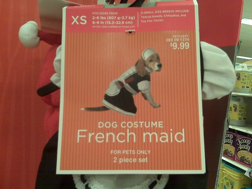 French Maid Dog Costume