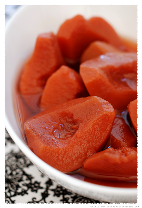 slow poached quince© by Haalo