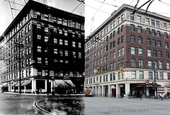 Lee Building - 1927/2010 (entheos_fog) Tags: vancouver mountpleasant app thenandnow v0374