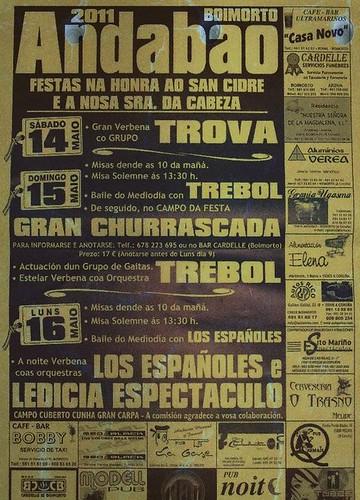 Boimorto 2011 - Festas en Andabao - cartel
