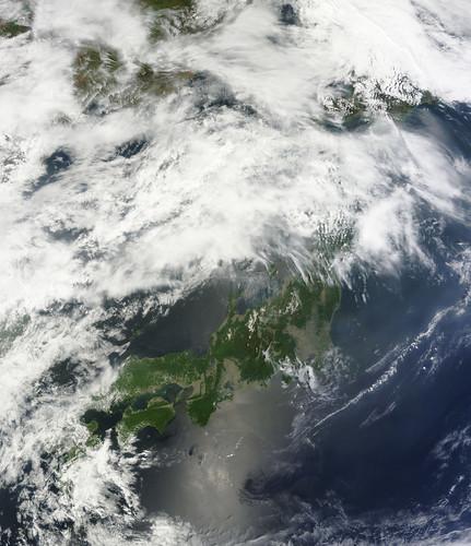 NASA Satellite View of Japan on May 20, 2011