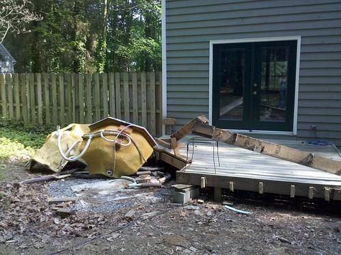 deck half-way removed