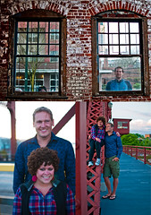 145 of 365 Reid and Elena (Tanner Wendell Stewart) Tags: seattle bridge wedding sky cute texture love film water smile project portland photography photo waterfall blog nikon stitch pano year panoramic retro blogs curly filter stewart short round be portlandia tanner tall 365 process plaid today curlyhair cutecouple hdr burnside might burnsidebridge roundcorner flanel project365 365days todaymightbe d7000 burnsidebridgeportland roundedcornder