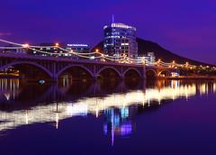 Mill Avenue Bridge Tempe AZ (gbrummett) Tags: camera arizona canon eos purple mark az ii 5d tempe tempetownlake millavenuebridge img4249 grantbrummett