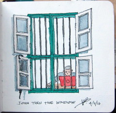 john thru the window