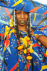 Peul woman from North of Mali (luca.gargano) Tags: voyage africa travel portrait girl earings fashion collier amber necklace beads colours tribal lips jewelery mali tatoo ambra primopiano gargano peul lowerlip facialtattoo lucagargano lipstattoo