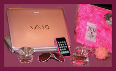 Pink (Still Alive ..) Tags: pink girls lamp perfume album laptop sony vaio versace rayban q8 iphone laperla moiq8