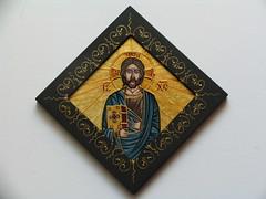 Iisus (cod i7) (Marius Paciu Art) Tags: icons jesuschrist religiousart byzantineicons cultobject religiousrepresentations