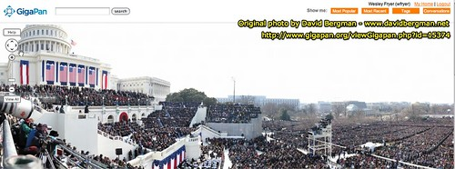 gigapan: President Barack Obama's Inaugural Address by David Bergman