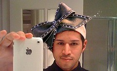 Gabriel Wearing Aretha's Hat
