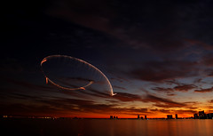 Tampa. (fbmpw) Tags: sunset red sky orange water beautiful 30 plane tampa airplane mexico fire bay amazing long exposure gulf florida top gorgeous air airshow explore pyro sec gasparilla pyrotechnic