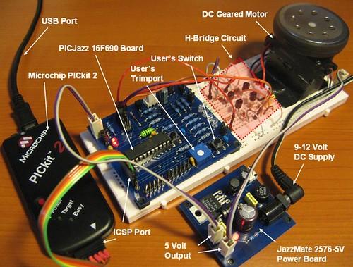 h bridge microchip pic microcontroller pwm motor controller after