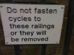 Railing removal