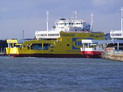 Red Osprey or Custard Tart? (Hythe Eye) Tags: ferry solent