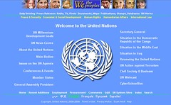 United Nations homepage