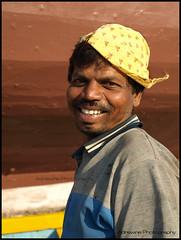 Boat Painter (AdreWine) Tags: india bombay bom mumbai fishmarket versovabeach