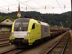 DLC ES64U2 066 (p.seiferth) Tags: railroad electric train austria tirol österreich transport railway cargo taurus railways verkehr railroads txl kufstein freighttrain cargotrain dlc güterzug 1116