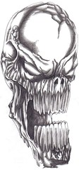 Evil Skull Head (Wayne Tully) Tags: art skull drawing demon skulldrawing creatureart waynetullyfantasyart demondrawings demonicart drawskulls