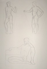 Enveloping Figure Studies - Male Model