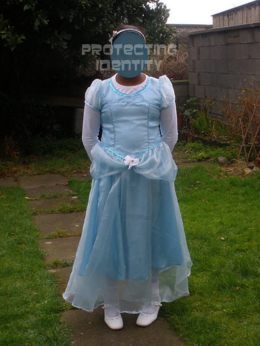 H dressed up as Cinderella, for World Book Day 2009