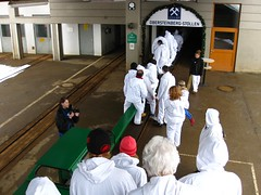 entering the mine with a train (twinni) Tags: salzburg austria sterreich salt saltmine salzbergwerk hallein drrnberg baddrrnberg salzwelten mw1504