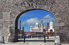 R127 neg 20 -   31 July 88 Salthouse Dock Liverpool (Scouse Hobbit) Tags: worldheritagesite albertdock royalliverbuilding portofliverpoolbuilding liverpoolwaterfront pierheadliverpool archsalthousedock