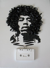 Ghost in the Machine: Jimi Hendrix (iri5) Tags: urban art amazing stencil ghost machine tape hendrix cassette jmi iri5