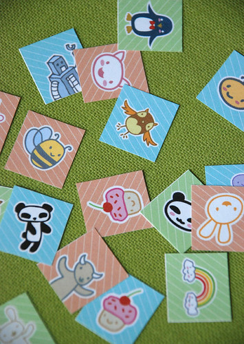 Panda and Friends Collage Pendant Set