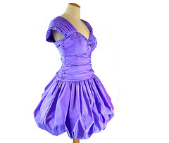 Vintage 1980's purple mini bubble dress (mysweetiepiepie) Tags: vintage dress purple mini retro 1980 eveninggown womensclothing eightiesfashion