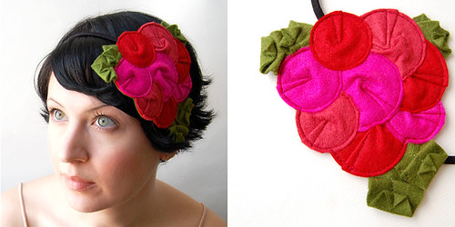 Rosette Fascinator // The Flamingo