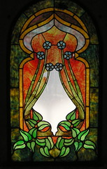 Art nouveau stained glass (Piemouth) Tags: santa clara glass cemetery grave graveyard geotagged memorial headstone tombstone stained mausoleum marker mission taphophilia geo:lat=37341545 geo:lon=121948999