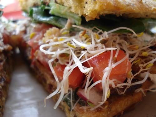 Urban Herbivore: Sesame Tempeh Sandwich