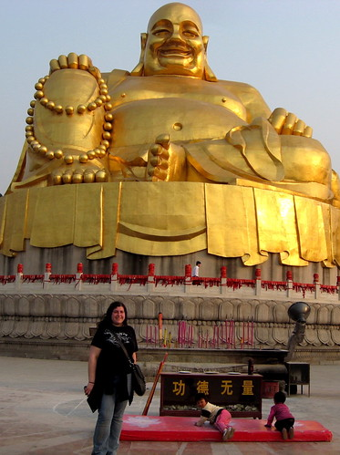 Me with giant golden Buddha