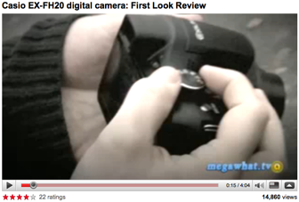 First Look Review of the Casio EX-FH20 by megawhat.tv
