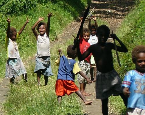 Vanuatu : ile de tanna : enfants