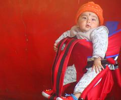 Angel@Monastery (iNeeraj) Tags: boy kid leh pram ladakh