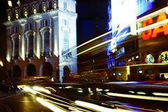 London - Piccadilly Circus - London (@Doug88888) Tags: pictures uk blue light red wallpaper england green london night digital canon photo long exposure image circus united picture gimp kingdom piccadilly images buy sanyo dslr purchase 400d doug88888