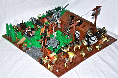 Overview -- 3/4 (Brickmania entry) (The Ranger of Awesomeness) Tags: typewriter us war lego nazi wwii german guns firearms brickarms foitsop
