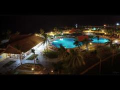 Night shot of a resort (Kaj Bjurman) Tags: ocean tree pool bar night photoshop canon dark palms eos palm resort cs 5d hdr kaj mkii markii photomatix bjurman
