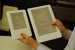 My Kindle 2 next to Kindle DX