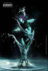 raindrops (Wilson Cáceres ®) Tags: light woman green water photoshop photo jump agua colombia graphic stock gotas wilson splash deviantart liquid diseño grafico udi caceres liquido adove udiseño deviantwatch